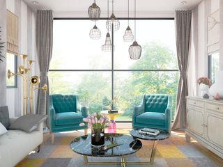 MRamos Phòng khách phong cách chiết trung Đồng / Đồng / Đồng thau Turquoise