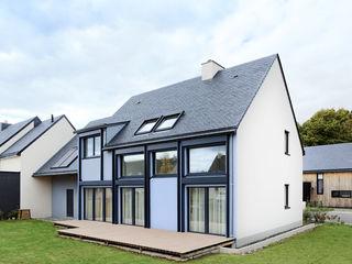 Maison Passive O2 Concept Architecture Maison passive Métal Bleu