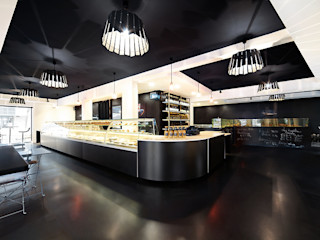 Commerce à Saint Malo O2 Concept Architecture Gastronomie moderne Béton Noir