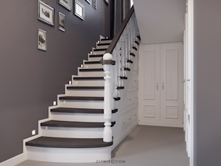Z E T W I X Classic style corridor, hallway and stairs