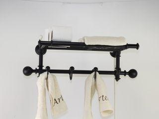 Toallero percha, accesorios de baño, ideas para decorar tu hogar Artehierro BañosAlmacenamiento Hierro/Acero Negro