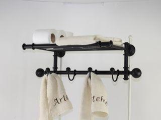 Toallero percha, accesorios de baño, ideas para decorar tu hogar Artehierro BañosBaldas Hierro/Acero Negro