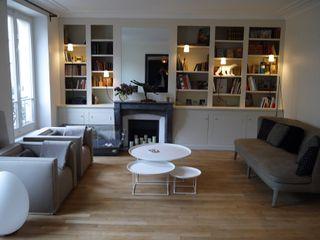 Un nid douillet Agence Laurent Cayron Salon moderne