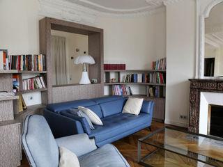 Contemporain et Haussmannien Agence Laurent Cayron Salon moderne