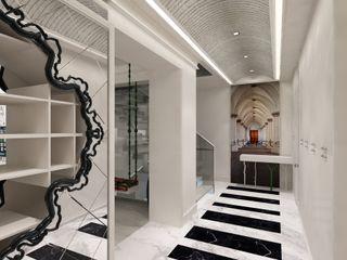 Mimoza Mimarlık Eclectic style corridor, hallway & stairs