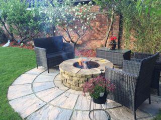 1.2m rustic sandstone firepit Lithic Fire Сад Піщаник