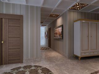 Mimoza Mimarlık Classic style corridor, hallway and stairs