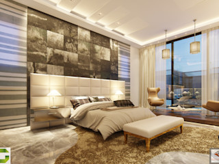 homify Modern Bedroom Marble Amber/Gold
