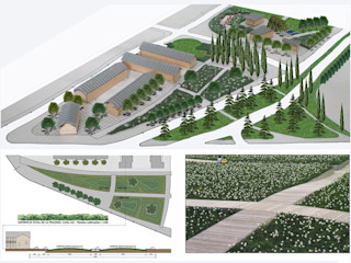 Dhena CONSTRUCCION DE JARDINES Modern Garden Concrete Green