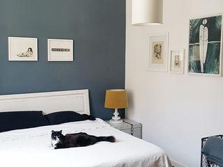 OSTIENSE FLAT Mohamed Keilani Interiors Camera da letto in stile industriale