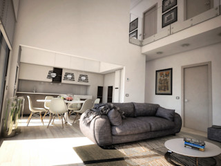 House A6 Ivan Rivoltella Soggiorno moderno