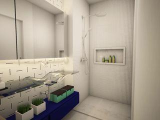 Apê FR - Maxhaus Estúdio Ventana Banheiros modernos