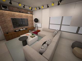 Apê FR - Maxhaus Estúdio Ventana Salas de estar modernas