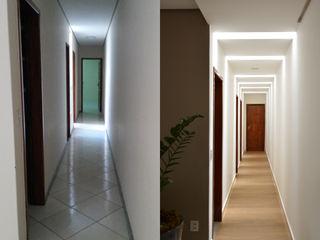 CARDOSO CHOUZA ARQUITETOS Pasillos, vestíbulos y escaleras de estilo moderno Madera