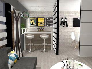 AurEa 34 -Arquitectura tu Espacio- Comedores de estilo ecléctico Gris