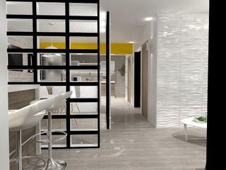 AurEa 34 -Arquitectura tu Espacio- Pasillos, vestíbulos y escaleras de estilo ecléctico Blanco