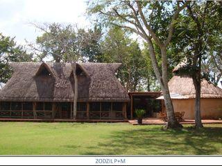 AIDA TRACONIS ARQUITECTOS EN MERIDA YUCATAN MEXICO Jardines de estilo clásico Madera Acabado en madera