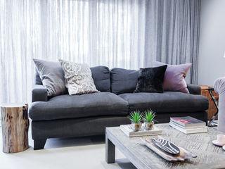 Multifunctional Open Plan Space Lauren Gilberthorpe Interiors Living room Grey