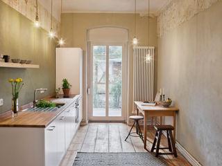Birgit Glatzel Architektin Industrial style kitchen Wood Beige