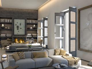 Calle Campana, Palma, Majorca 4D Studio Architects and Interior Designers Living roomAccessories & decoration Wood Grey