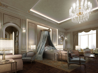 Exploring Luxurious Homes : French Style Bedroom Design IONS DESIGN Classic style bedroom Copper/Bronze/Brass Multicolored