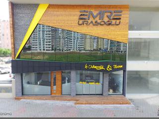 Emre Urasoğlu İç Mimarlık Tasarım Ltd.Şti. Modern style study/office Wood-Plastic Composite Multicolored