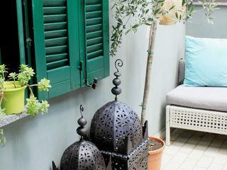 URBAN OASIS Severine Piller Design LLC Balcones y terrazas de estilo ecléctico