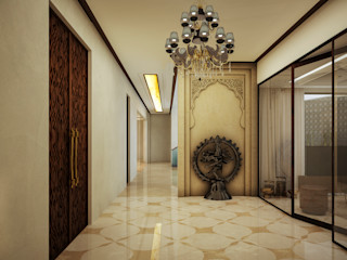 POOJA ROOM 23DC Architects Modern Living Room Wood Wood effect