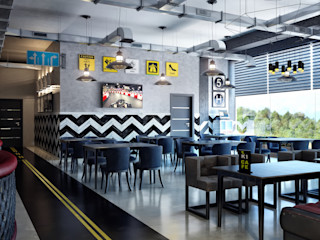 Sweet Home Design Industrial style bars & clubs