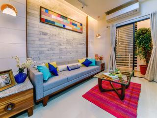 Saar Interior Design Ruang Keluarga Gaya Eklektik Multicolored
