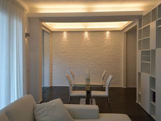 Studio di Architettura Ortu Pillola e Associati Modern Yemek Odası Beyaz