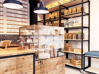 IK-architects Salle à manger industrielle