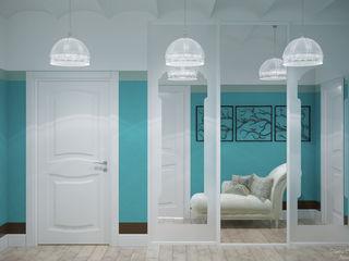 Студия интерьерного дизайна happy.design Mediterranean corridor, hallway & stairs
