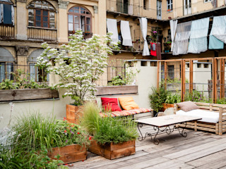TERRAZZO Torino marta carraro Balcone, Veranda & Terrazza in stile rustico