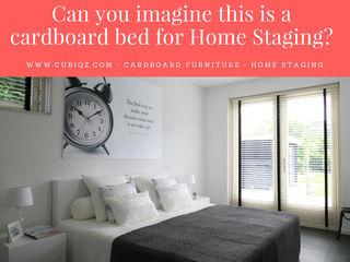 Can you imagine this is a cardboard bed? CUBIQZ Clever Cardboard Creations SlaapkamerBedden en hoofdeinden