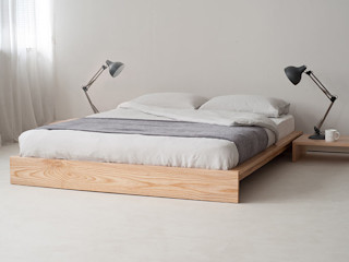 Japanese Style Beds & Bedrooms Natural Bed Company BedroomBeds & headboards Wood Grey