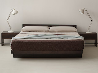 Japanese Style Beds & Bedrooms Natural Bed Company BedroomBeds & headboards Solid Wood Brown