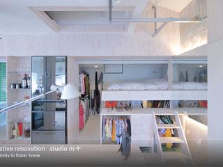 studio m+ by masato fujii Camera da letto eclettica