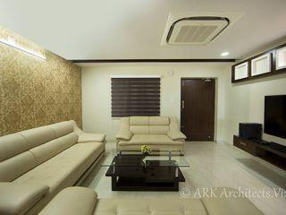 ARK Architects & Interior Designers 現代風玄關、走廊與階梯