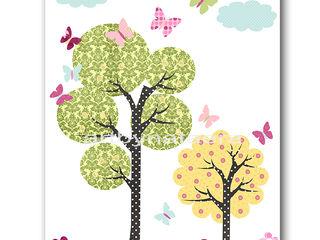 Hot Air Balloon Baby Girl Nursery Print artbynataera Chambre d'enfantsAccessoires & décorations Papier Jaune