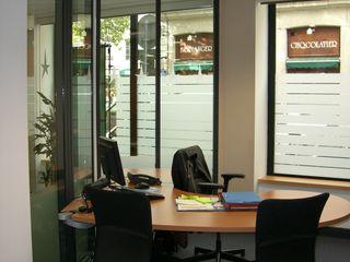 Rehabilitation d'une banque Pierre Bernard Création Espaces de bureaux classiques