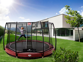 BERG Elite+ trampoline BERG Toys B.V. Jardin rural Plastique Rouge
