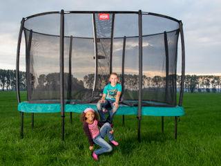 BERG EazyFit trampoline BERG Toys B.V. Jardin rural Aluminium/Zinc Vert
