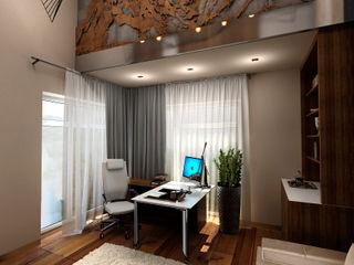ЙОХ architects Ruang Studi/Kantor Gaya Eklektik