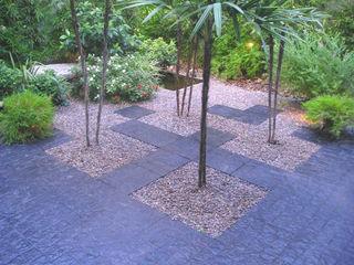 Dhena CONSTRUCCION DE JARDINES Modern Garden Bamboo White