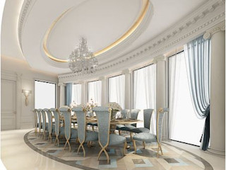 Fascinating Formal Dining Room Design IONS DESIGN Colonial style dining room Marble Blue