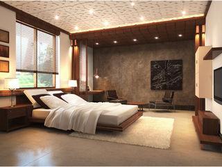 Master Bedroom Chaukor Studio Eclectic style bedroom