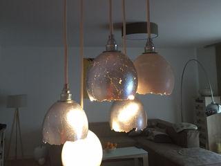 Lieselotte EetkamerVerlichting Kalksteen Metallic / Zilver