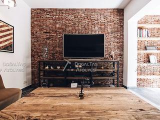 Doğaltaş Atölyesi Living room Bricks Red