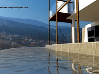 Arquitecto Aguiar Mediterranean style pool Limestone